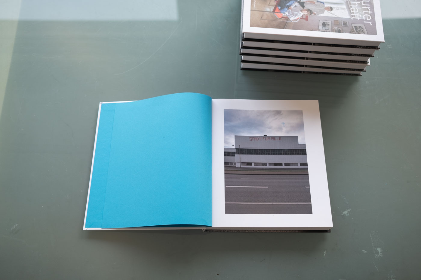 "The finished catalog of the photography long-term project ""In Frankfurter Gesellschaft""."