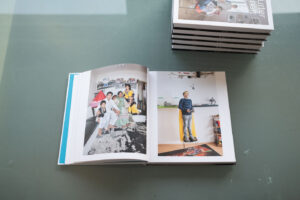 """The finished catalog of the photography long-term project """"In Frankfurter Gesellschaft""""."""